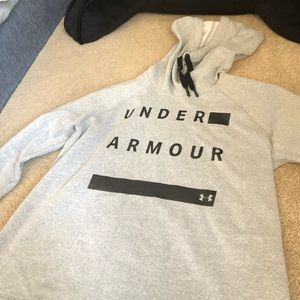Grey Scarf-Hood Under Armor Sweatshirt